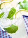 Lemon and mint Stock Photo