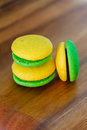 Lemon and mint marron cookies Stock Photo