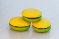 Lemon and mint marron cookies Stock Image