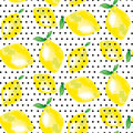 Lemon motif. concept vivid back fashion backdrop Royalty Free Stock Photo