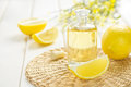 Lemon oil Royalty Free Stock Photo
