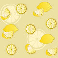Lemon pattern Royalty Free Stock Images