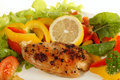Lemon pepper Chicken breast Royalty Free Stock Photos