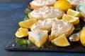 Lemon pie with meringue Royalty Free Stock Photo
