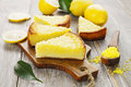 Lemon pie with  yellow coconut Royalty Free Stock Photo