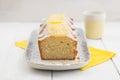Lemon pound cake Royalty Free Stock Photo