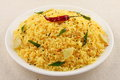 lemon rice from South Indian cuisine. Royalty Free Stock Photo
