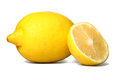Lemon ripe siolated on white Royalty Free Stock Photos