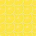 Lemon seamless pattern with ripe juicy fruit Royalty Free Stock Photography