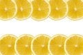 Lemon segments on a white background Stock Images