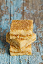 Lemon Shortbread Squares Stock Photo
