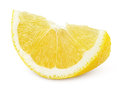 Lemon slice of fruit isolated on white background Stock Photo