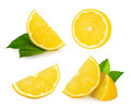 Lemon slice isolated on white Royalty Free Stock Photo