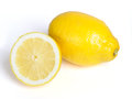 Lemon and slice isolated on white background Royalty Free Stock Images