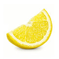 Lemon slice isolated on a white background Royalty Free Stock Photos