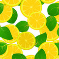 Lemon slice pattern Stock Photography