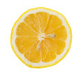 Lemon slice saved with clipping path Royalty Free Stock Images