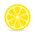 Lemon slice vector icon Royalty Free Stock Photo