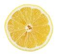 Lemon Slice on white background Royalty Free Stock Photo