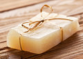 Lemon soap piece of handmade Royalty Free Stock Images