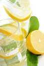 Lemon in Soda Royalty Free Stock Photos