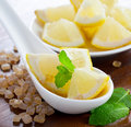 Lemon, sugar and mint Royalty Free Stock Image