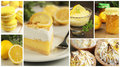 Lemon tart collage Royalty Free Stock Photography