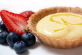 Lemon tart delicious with fresh berries Royalty Free Stock Images