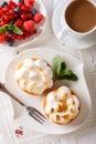 Citrón koláče snehová pusinka bobule a káva