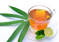 Lemon tea with bamboo leaf Royalty Free Stock Photography