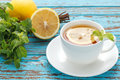 Lemon tea mint fresh drink summer refreshment still life Royalty Free Stock Photo