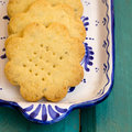 Lemon Thyme Flower Shaped Shortbread Cookies Royalty Free Stock Photo