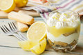 Lemon tiramisu in a glass Royalty Free Stock Photo