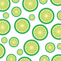 Lemon tropical and exotic fruit pattern