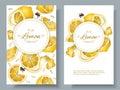 Lemon vertcal banners Royalty Free Stock Photo