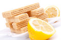 Lemon wafer Stock Image