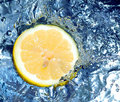 Lemon in water Stock Image