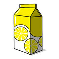 Lemonade carton illustration Stock Photos