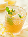 Lemonade cold fresh drink close up selective focus Stock Photos