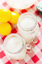 Lemonade delicious on a country table Royalty Free Stock Photos