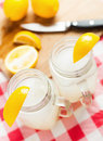 Lemonade delicious on a country table Stock Image