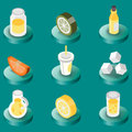 Lemonade flat isometric set