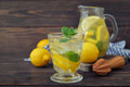 Lemonade with fresh lemon Royalty Free Stock Photo