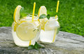 Lemonade fresh with mint an amazing drink Royalty Free Stock Photo