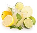 Lemonade glass of lemon juice Royalty Free Stock Photo