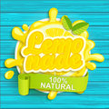 Lemonade label splash. Royalty Free Stock Photo