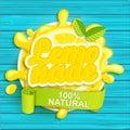 Lemonade label splash. Royalty Free Stock Photo