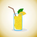 Lemonade with lemon and ice. Royalty Free Stock Photo