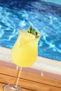 Lemonade by the pool Royalty Free Stock Photo