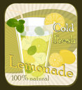 Lemonade poster vintage vector illustration Royalty Free Stock Photos